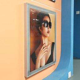 Box Frames Mounts Australia - 80*120cm Wall Mounted Poster Board Magnetic Frame Light Box Featuring 42mm Thickness Aluminum Frame with Wooden Case Packing