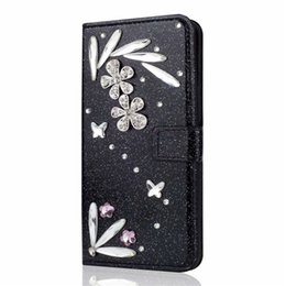 $enCountryForm.capitalKeyWord UK - Feather Bling Wallet case for Apple iPhone XS Max XR 8 7 6 5S Plus Flip Kickstand Bumper for Galaxy S9 S9+ S8 S8+ Women Girls