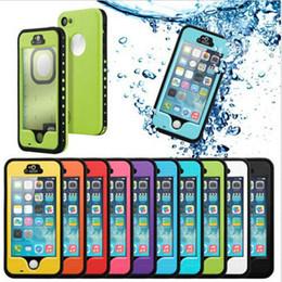 Purple Iphone Screens Australia - Protective Case Full body Cases For Apple iPhone 5 5S Waterproof Shockproof DirtProof bulit in Screen Protector