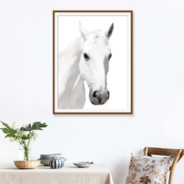 $enCountryForm.capitalKeyWord Australia - Minimalist Style Wall Art Painting Black White Horse Pictures HD Prints Home Decor Modular Nordic Canvas Poster For Living Room