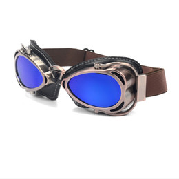 pilot goggles motorcycle helmet Australia - Motorcycle Glasses Pilot Helmet Goggles Retro Vintage Riding Eye Wear Copper Goggles for Harley Cruiser Cafe Racer