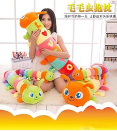 $enCountryForm.capitalKeyWord Australia - New Rainbow Caterpillar Pillow Plush Toy Stuffed For Kids Best Holiday Gifts 50CM 4pcs Lot Wholesale -akye