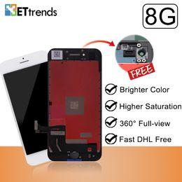Venta al por mayor de Excelente calidad de pantalla para iPhone 8 Lcd Montaje de pantalla de fábrica Suministro directo Marco de prensa en frío Sin píxeles muertos DHL Envío rápido