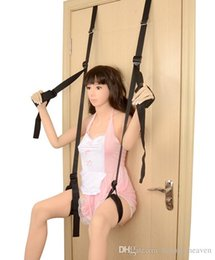Gear Doors Australia - SM Bondage Gear Sex Swing Chair Hanging Door Sex Furniture Straps Flirting Bondage Rope BDSM fetish adult toys for couples