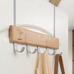 Discount hang bear bag Multifunctional Clothes Bedroom Bags Hanging Towel Pants Coat Durable Storage Organizer Strong Bearing Door Hook Kitchen