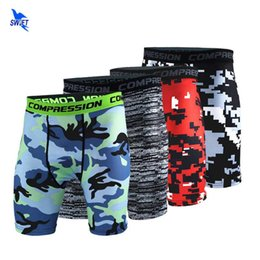 purple compression shorts NZ - 2020 New Men Compression Shorts Camouflage Bermuda Shorts Fitness Crossfit Bodybuilding Skin Tights Camo Running Short Leggings