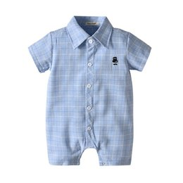 $enCountryForm.capitalKeyWord Australia - Ins 2019 new Summer baby romper shirt Boy Rompers newborn baby boy clothes Infant Jumpsuit short sleeve Boys Clothing Toddler romper A4735
