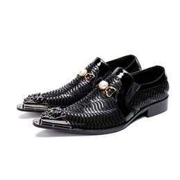 $enCountryForm.capitalKeyWord UK - 2019 Latest Fashion luxury mens business casual shoes pointed slip on embossed leather dress shoes black wedding shoes