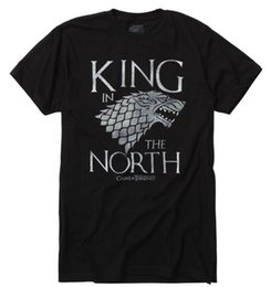 Game Thrones Direwolf Australia - Game Of Thrones KING IN THE NORTH Stark Direwolf T-Shirt NWT Licensed & Official Cheap wholesale tees 2019 fashion t shirt
