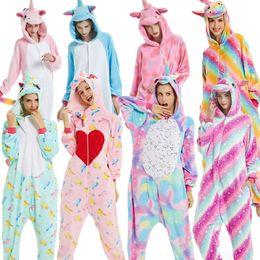 $enCountryForm.capitalKeyWord Australia - BIKIRUB Adults Pajamas Women Flannel Sleepwear Unisex Cute Unicorn Stitch Cartoon Animal Pajama Set Kids Hooded Pyjamas