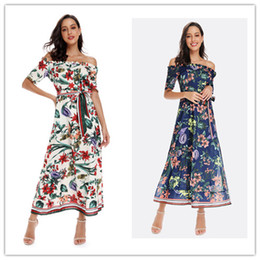 $enCountryForm.capitalKeyWord Australia - 2019 Women Summer dresses Long dress Women Clothes Floral print Sexy word shoulder Hot selling China women clothing manufacturer