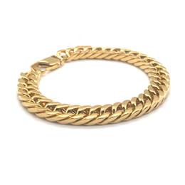 $enCountryForm.capitalKeyWord UK - Hot Sale Gold Mens Bracelets Stainless Steel Designer Bracelet Lobster Luxury Bracelet Fashion Jewelry Cuban Link Chains