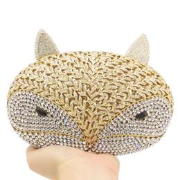$enCountryForm.capitalKeyWord NZ - New ! Classic Designer Luxury Crystal Evening Bag Animal Owl Women Evening Purse Handbag Free shipping Ladies Day Clutches Minaudiere Box