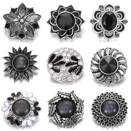 metal snap flower buttons Australia - Noosa Button New 18mm Metal Snap Button Jewelry Rhinestone Flower Owl Buttons for Snap Jewelry Fit DIY Snaps Bracelets&Bangles
