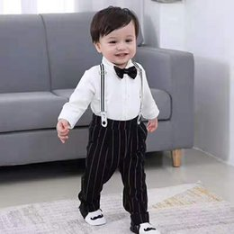 christmas clothes Australia - Boys Wedding Suits Kids Clothes Toddler Formal Kids Suit Children'S Wear Vest + Shirt + Trousers Boys Outfit Baby Clothes