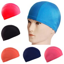 $enCountryForm.capitalKeyWord NZ - Hot Sale Free Size Fabric Protect Ears Long Hair Sports Siwm Pool Swimming Cap Hat Women Sporty Ultrathin Adult Bathing Caps