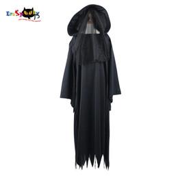 Halloween Costume Black Vampire Dress Australia - fantasy dress Boy Ghost Specter Spirit Scary Vampire Costume Witch Cosplay Halloween Costume Fantasy Dress for Children Party Carnival
