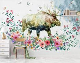 $enCountryForm.capitalKeyWord Australia - Custom photo 3d wallpaper mural Nordic elk modern minimalist HD silk TV background wall wallpaper for living room