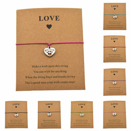 cute lucky charms Australia - New Cute Best Friend Heart Charms Dog's Paw Bracelets Make A Cards Love Words Lucky Gifts Dog Lovers Jewelry For Women Men