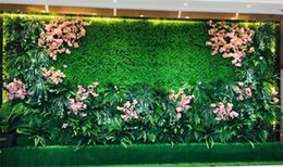 artificial grass turf wholesale NZ - Eco-friendly Artificial Plant Wall Artificial Turf Artificial lawn Mat Pet Food Mat Plastic Fish Tank Fake Grass Lawn Micro Landscape stock