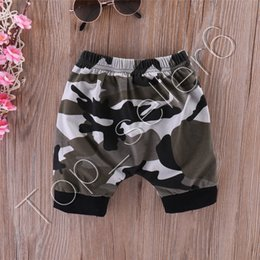 baby boys tees Australia - Boutique Baby Clothes King Black T-shirts Camouflage Shorts Boys Tops Tee Elastic Waist Short Trousers 2PCS Set Kids Clothing Set CZ312