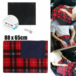 heat pad electric NZ - 5V Car Office USB Electric Heated Blanket Soft Pet Warm Heater Pad Cover Blanket Home Textile