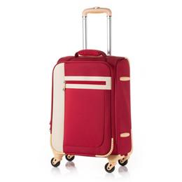 $enCountryForm.capitalKeyWord UK - Women 's Retro luggage series 20 22 24 inch Oxford cloth Handbag and Rolling Luggage Spinner brand Travel Bag Trolley Suitcase