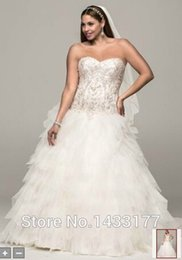 Discount Ball Dresses Australia - fast shipping sweetheart handmade tulle discount ball gown bridal gowns lace up in stock plus size Embroidery 24W wedding dresses
