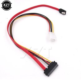 Power sata cable Pins online shopping - Newest cm SATA Combo Pin Power and Pin Data Cable Molex to Serial ATA Lead cable molex to sata power adapter