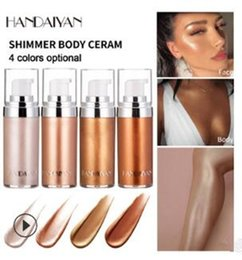 $enCountryForm.capitalKeyWord NZ - Dropshipping 2019 New HANDAIYAN shimmer body cream for any part hilights 20ml 4 colors in stock