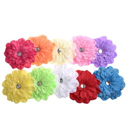 brooch hair Australia - 10 X Lovely Gerbera Daisy Flower Clip for Baby Girls Child Brooch Hair Decoration