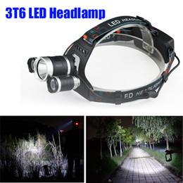 $enCountryForm.capitalKeyWord Australia - CRESTECH Best Selling 3T6 Headlamp 6000 Lumens T6 Head Lamp High Power LED Headlamp Head Lamp Flashlight Head +charger