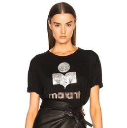 $enCountryForm.capitalKeyWord Australia - Women T-shirt 2019 Summer Hot Stamped Flocked Print Pure Linen Short-sleeved