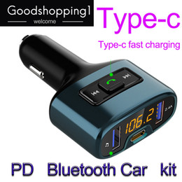 One Two Audio Australia - PD Car Accessories Hands-Free Bluetooth Fm Transmitter Car Mp3 Player TYPE-C Fasting Charge Audio Dual USB Car Charge DHL free shipping