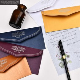 $enCountryForm.capitalKeyWord Australia - (5Pcs Set) Pearl Paper Envelopes For Invitations With 5Pcs Inner Pages Wedding Invitation Envelope Set Envelope Gift Envelopes