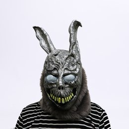 Chinese  Animal Cartoon Rabbit Mask Donnie Darko FRANK The Bunny Costume Cosplay Halloween Party Scary Mask Supplies manufacturers