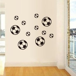 Wall Stickers For Bedrooms Australia - 3D Cartoon Football Wall Stickers For Kids Baby Room Bedroom Decoration Self-adhesive Soccer Wallpaper Vinyl Art DIY Wall Decals