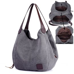 29caf4a31 SUNNY SHOP Canvas Hobos Causal Women Tote Bag Vintage Solid Mom Bag Large  Capacity Shoulder Korean Style Fashion Beige #44302
