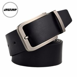 black leather cowboy belts Australia - 2019 New Mens Belts fashion wide belt Genuine Leather Black Pin Buckle Cowboy Belts Metal Buckle Belt Free Shipping