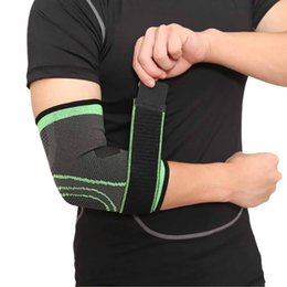 $enCountryForm.capitalKeyWord Australia - Breathable Elbow Brace Support Safety Pressurized Bandage Outdoor Elbow Pads for Sport Basketball Fitness Elastic Arm