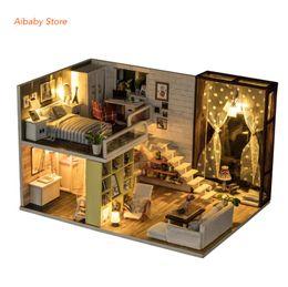 $enCountryForm.capitalKeyWord Australia - DIY Doll House Wooden Doll House Unisex dollhouse Kids Toy Furniture Miniature Crafts