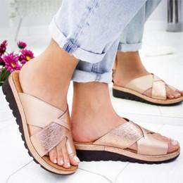 Frauen Pu Leder Schuhe Bequeme Plattform Flache Sohle Damen Casual Weiche Big Toe Fuß Korrektur Sandale Orthopädische Bunion Corrector Mit Dem Besten Service Sport & Unterhaltung