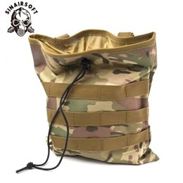 Magazine duMp pouch online shopping - SIN Large Capacity Tactical Molle Belt Paintball Hunting Magazine Pouch Dump Drop Reloader