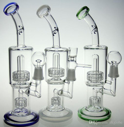 Water Pipe Art Australia - glass bong factory outlets GLASS ART brand recycler bubbler oil rig with tyre birdcage perc water pipe 14.4mm joint