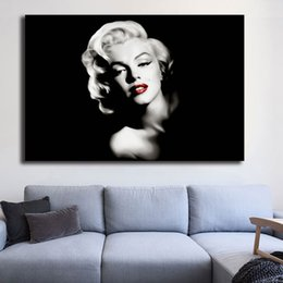 $enCountryForm.capitalKeyWord Australia - Marilyn Monroe Black And White Canvas Painting Print Bedroom Home Decor Modern Wall Art Oil Painting Poster Salon Pictures