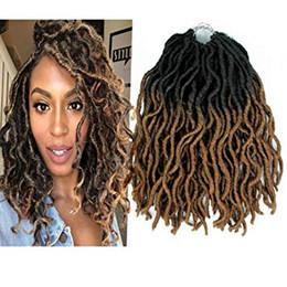 crochet hair 12 inch 2019 - Curly Faux Locs Synthetic Crochet Pre-looped Braid Crochet Locs Synthetic Dreadlocks Kanekalon Wavy Faux Locs Crochet Ha
