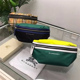 Wholesale 19ss luxurious brand design BBR plaid Crossbody Clutch Satchel fashion Street duffle men women sport Bumbag Chest packs travel outdoor bags