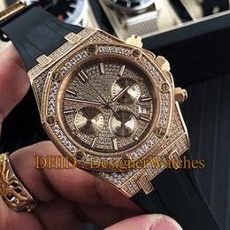 $enCountryForm.capitalKeyWord Australia - Diamond Watch Rose Gold 316L Steel Import Japan Quartz Watch Black Rubber Strap Multifunction Men Wristwatches Woman Designer Luxury Watches