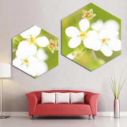 $enCountryForm.capitalKeyWord Australia - Nordic Style Prints White Flowers Pictures Fashion Poster Vintage Painting Home Decor Hexagon Canvas For Bar Kitchen Wall Art