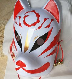 Painting Faces Australia - Hand- painted Fox Mask Endulge Japanese Full Face PVC Halloween Animal Mask Masquerade Cosplay Party Masks Free Shipping